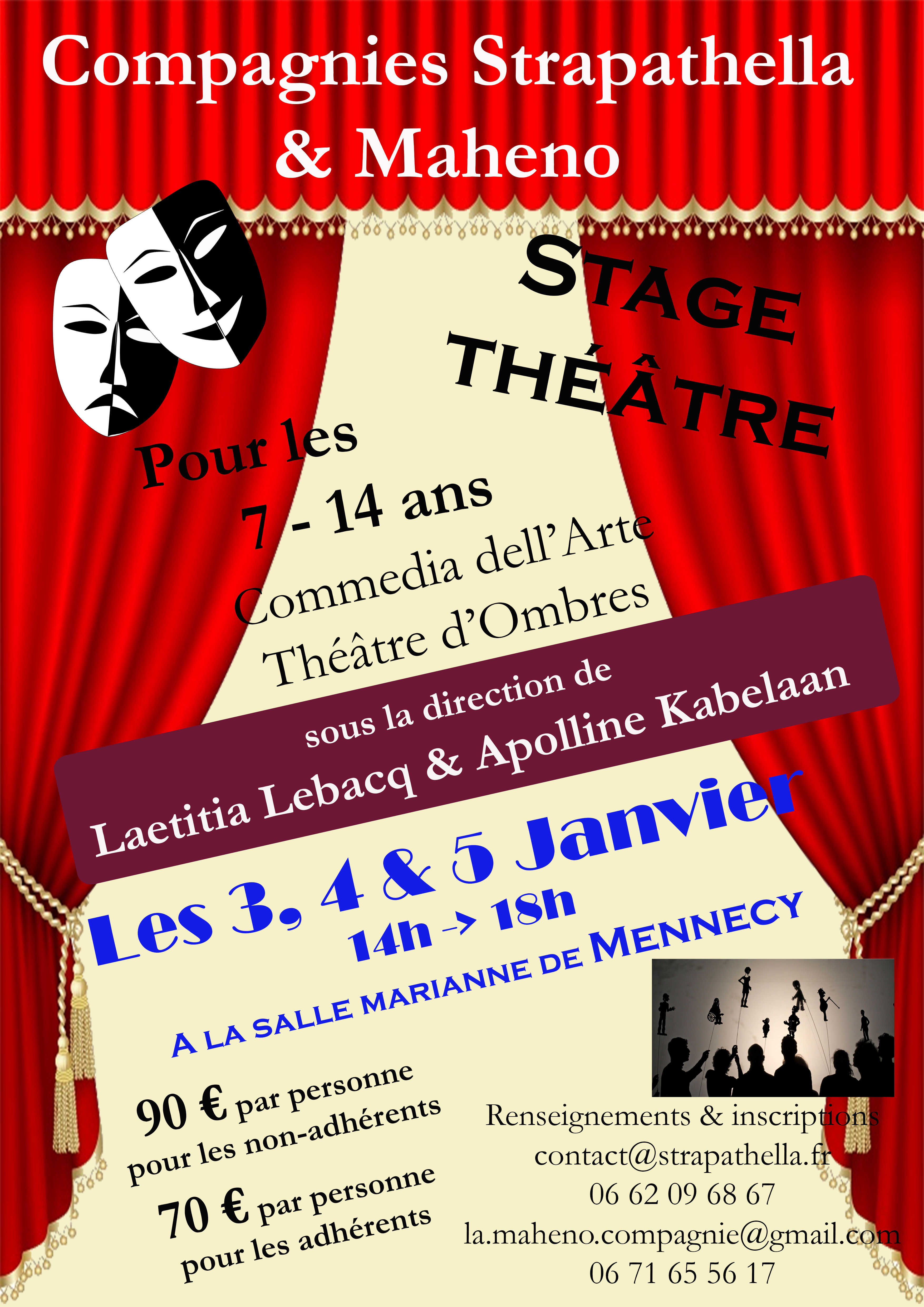 Stage Janvier @ Salle Marianne | Mennecy | Île-de-France | France